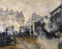 Claude Monet - Le Pont de l'Europe-Gare Saint Lazare à Paris