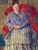 Paul Cézanne - Madame Cézanne in rotem Sessel