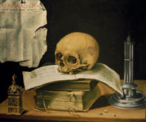 Sebastian Stosskopf - Vanitas Still Life with Books and Almanach