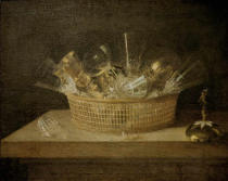 Sebastian Stosskopf - Basket with Glasses