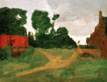 Paula Modersohn-Becker - House and old factory at the edge of the village