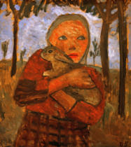 Paula Modersohn-Becker - Girl with rabbit