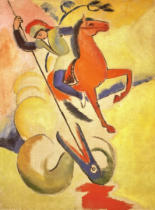 August Macke - Heiliger Georg
