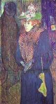 Henri de Toulouse-Lautrec - Jane Avril entrant au Moulin-Rouge