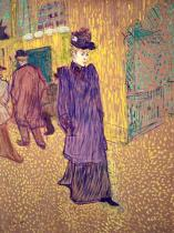 Henri de Toulouse-Lautrec - Jane Avril sortant du Moulin-Rouge