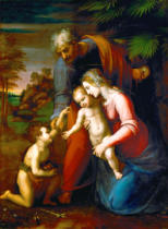 Raffael - The Holy Family with the infant Saint John