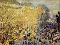 Claude Monet - Boulevard des Capucines in Paris