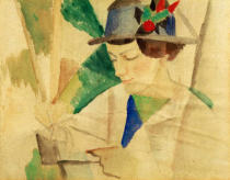 August Macke - The painter's wife, reading