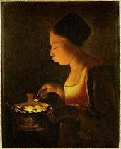 Georges de la Tour - La fillette au brasero