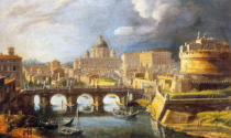 Gaspar Adriaens van Wittel - View of Rome with the Castel Sant'Angelo