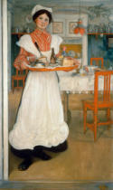 Carl Larsson - Martina Carrying Breakfast on a Tray, 1904