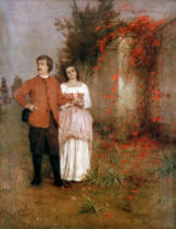 Arnold Böcklin - Boecklin Self-Portrait w.wife/ 1901