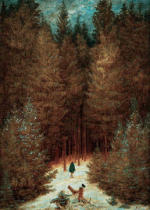 Caspar David Friedrich - The hunter in the forest (Snowcovered fir wood, fir wood with the raven)