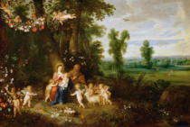 Pieter van Avont - The Holy Family with Saint John Baptist