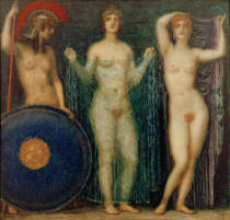 Franz von Stuck - The Three Goddesses Athena, Hera and Aphrodite