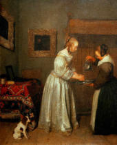 Gerard ter Borch - Lady washing her hands