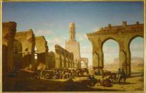 Prosper Marilhat - Ruins of the mosque of Khalif Hakem in C