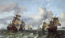 Ludolf Backhuysen - The Dutch fleet of the Dutch East India Company