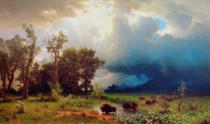 Albert Bierstadt - Buffalo Trail: The Impending Storm (The Last of the Buffalo)