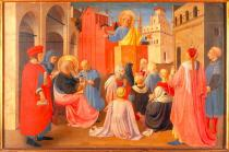 Fra Angelico - Sermon of the Apostle Peter accompanied by the Evangelist Mark