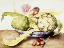 Giovanna Garzoni - Chinese Bowl with Artichokes and Strawberries