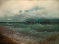 Iwan Konstantinowitsch Aiwasowski - Ships on a stormy sea at daybreak