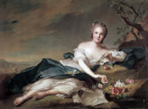 Jean-Marc Nattier - Anne Henriette of France as Flora