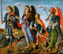 Francesco Botticini - The Three Archangels and the Young Tobias