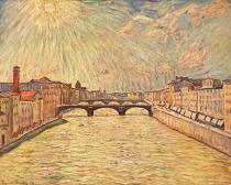 Theo von Brockhusen - Arno Bridge in Florence I