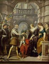 Peter Paul Rubens - Henri IV leaving for the war in Germany and bestowing the government of his kingdom to Marie de Me