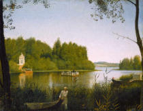Grigori Wassiljewitsch Soroka - Lake Moldino in Ostrovsky, the country residence of N.P.Miliukov