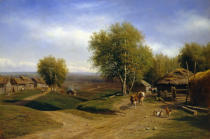 Michail Konstantinowitsch Klodt - Return of the Herd to the Village