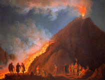 Jakob Philipp Hackert - The Vesuvius Eruption in 1774