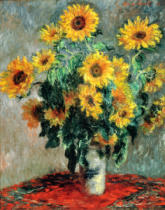 Claude Monet - Bunch of sunflowers