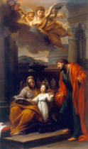 Francesco Mancini - Saint Anne and Joachim with the little Mary