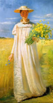 Michael Peter Ancher - Anna Ancher comes home from the field