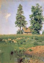 Isaak Iljitsch Lewitan - Farmhouse on a meadow