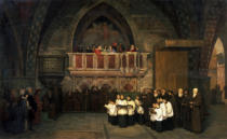 Michail Petrowitsch Botkin - Abendgottesdienst in der Kirche S. Francesco in Assisi