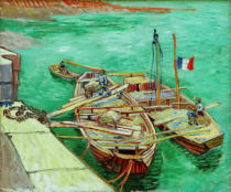 Vincent van Gogh - Barges on the River Rhone