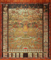 AKG Anonymous - Taima-Mandala / Japan. Silk Painting