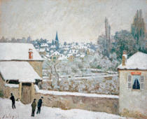 Alfred Sisley - Alfred Sisley, Winter in Louveciennes