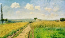 Camille Pissarro - June morning, view of the hills of Pontoise (June morning near Pontoise)