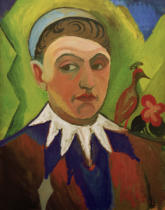 August Macke - Clown, karikiertes Selbstbildnis