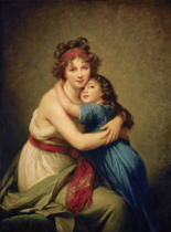 Élisabeth-Louise Vigée-Lébrun - Selfportrait of the artist with her daughter