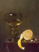 Jan Jansz. van de Velde - Wine glass and sliced lemon