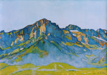 Ferdinand Hodler - Die Dents Blanches bei Champéry II