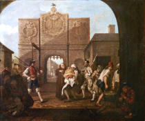 William Hogarth - Calais Gate, or O The Roast Beef of Old England
