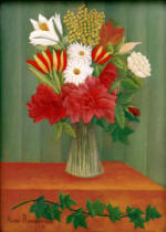Henri J.F. Rousseau - Bouquet of Flowers with an Ivy Branch