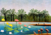 Henri J.F. Rousseau - The Flamingoes