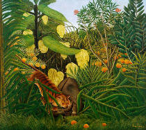 Henri J.F. Rousseau - Fight between a tiger and a buffalo